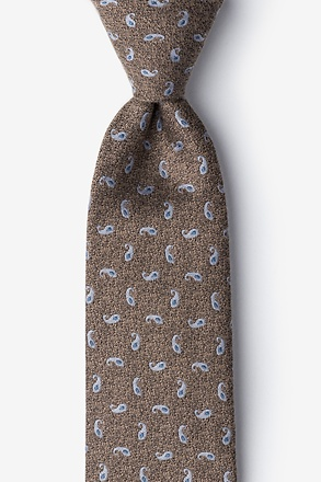 Tan Bucharest Paisley Tie
