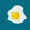 Teal Carded Cotton Bacon & Eggs Sock