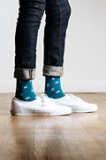 Flying Bird Teal Sock Photo (2)