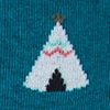 Teepee Teal Sock