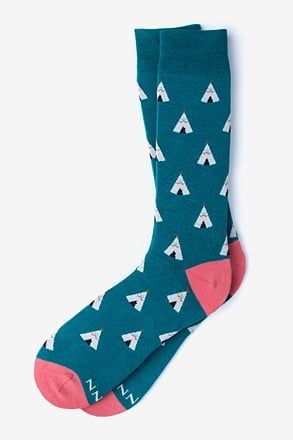 _Love Your Tribe Teal Sock_