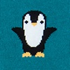 Teal Carded Cotton Penguins are Chill Sock