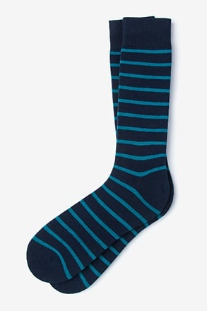 Virtuoso Stripe Teal Sock