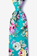 Teal Cotton Abney Extra Long Tie
