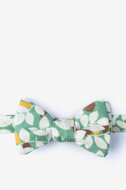 Arnold Teal Self-Tie Bow Tie Photo (0)