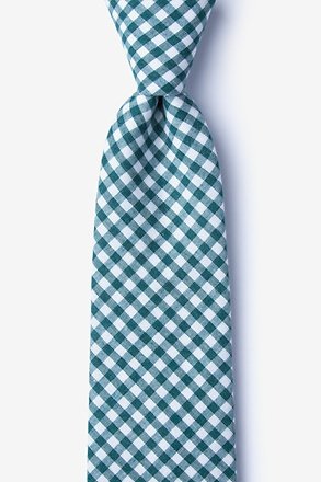 _Clayton Teal Extra Long Tie_