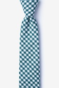 Teal Cotton Clayton Skinny Tie