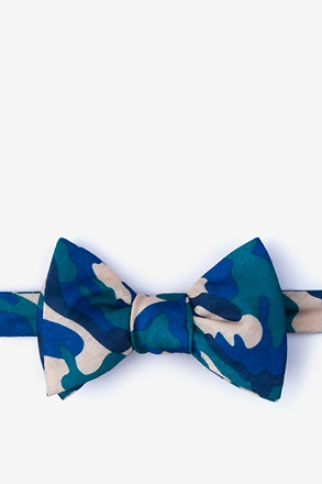 Drones Teal Self-Tie Bow Tie