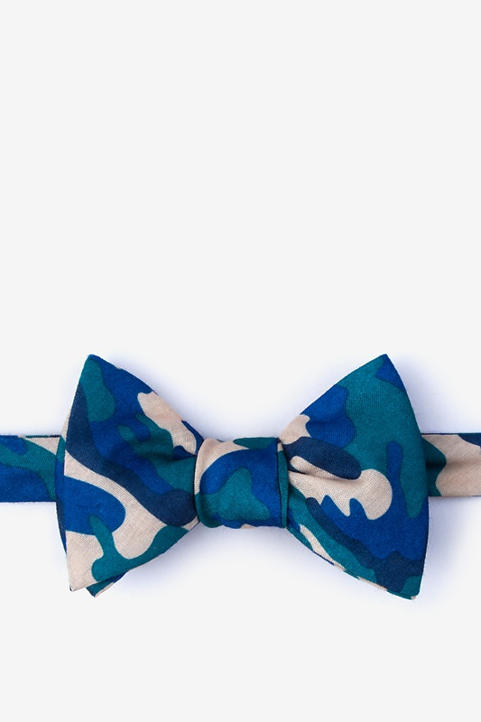 Drones Teal Self-Tie Bow Tie Photo (0)