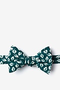 Teal Cotton Florence Self-Tie Bow Tie