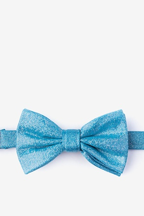 _Hurricane Teal Pre-Tied Bow Tie_