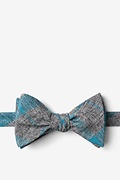 Teal Cotton Kirkland Butterfly Bow Tie