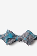 Teal Cotton Kirkland Diamond Tip Bow Tie