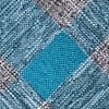 Teal Cotton Kirkland Extra Long Tie