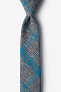 Teal Cotton Kirkland Skinny Tie