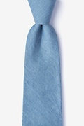 Teal Cotton Munroe Extra Long Tie