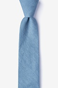 Teal Cotton Munroe Skinny Tie