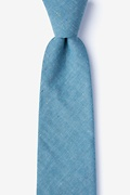 Teal Cotton Teague Extra Long Tie