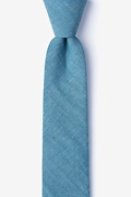 Teal Cotton Teague Skinny Tie