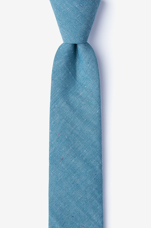 Teague Teal Skinny Tie Photo (0)