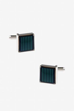 Thick Striped Square Cufflinks