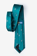 Scorpions Teal Extra Long Tie Photo (2)