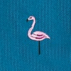 Teal Microfiber Yard Birds Extra Long Tie