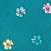 Teal Silk Awesome Blossoms Extra Long Tie