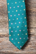 Blossoms Teal Extra Long Tie Photo (3)