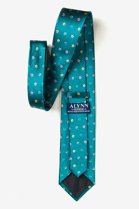 Blossoms Teal Tie Photo (2)