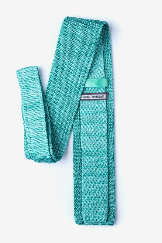 Classic Solid Teal Knit Tie Photo (1)