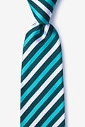 Teal Silk Fergus Extra Long Tie