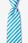 Teal Silk Glyde Extra Long Tie