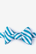 Teal Silk Glyde Self-Tie Bow Tie