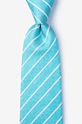 Teal Silk Lagan Extra Long Tie