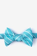 Teal Silk Lagan Self-Tie Bow Tie