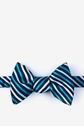 Teal Silk Lee Bow Tie
