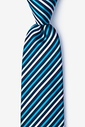 Teal Silk Lee Extra Long Tie