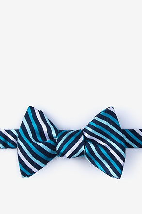 Lee Teal Self-Tie Bow Tie