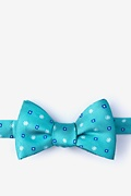 Teal Silk Monkey Bow Tie