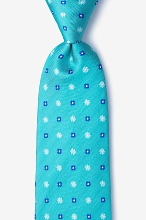 Monkey Teal Extra Long Tie