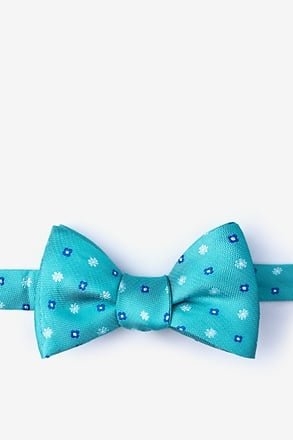 Monkey Teal Self-Tie Bow Tie