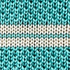 Teal Silk Roman Stripe Knit Tie