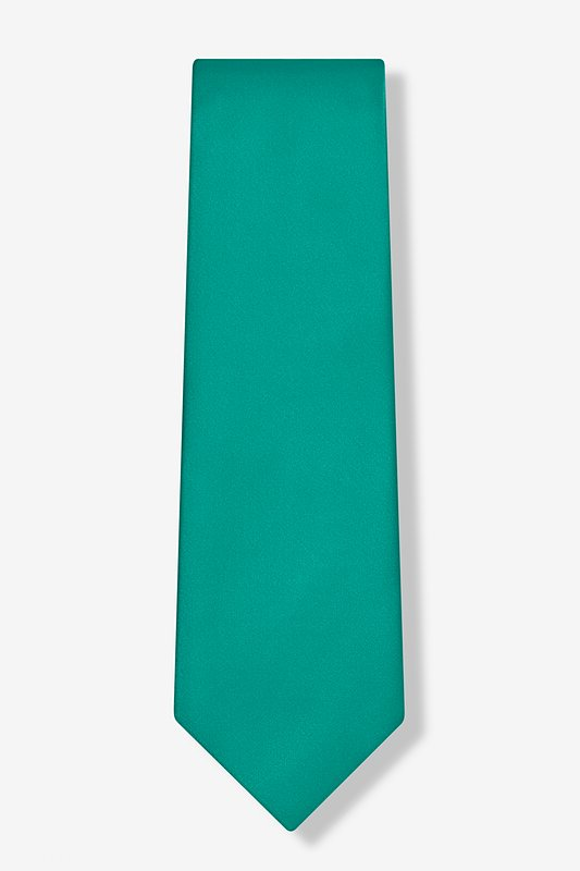 Teal Extra Long Tie Photo (1)