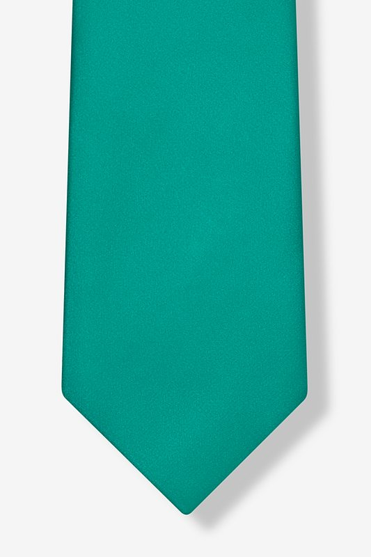 Teal Extra Long Tie Photo (3)