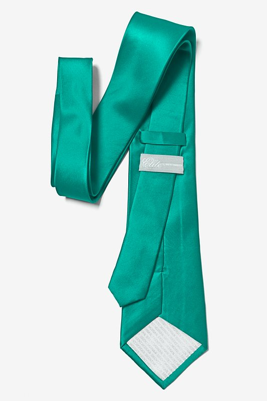 Teal Extra Long Tie Photo (2)