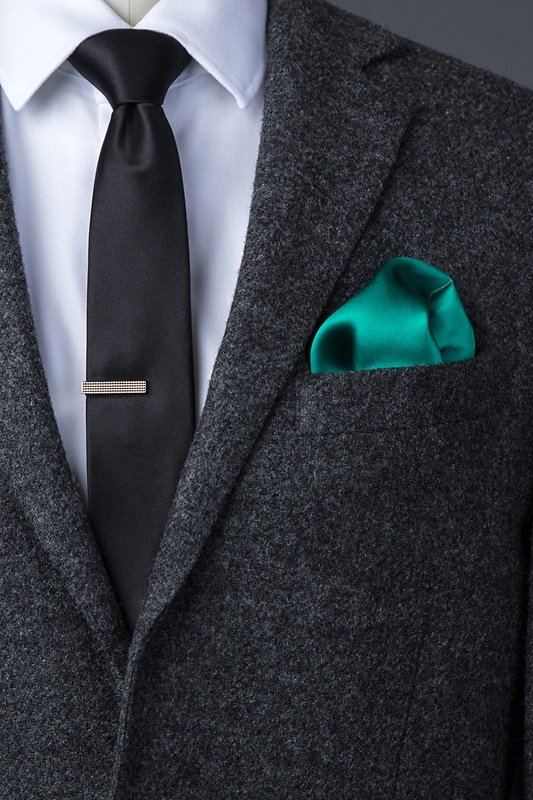 Teal Pocket Square Photo (3)