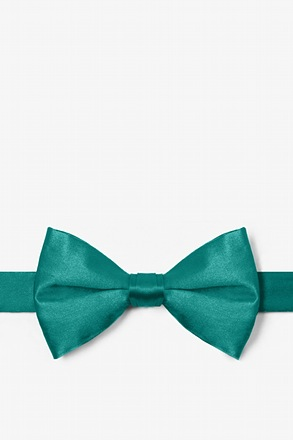 Teal Pre-Tied Bow Tie