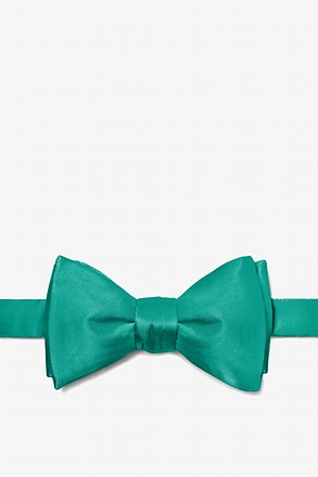 Teal Self-Tie Bow Tie