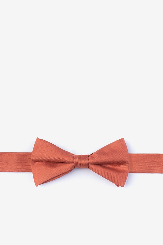 Terra Cotta Bow Tie For Boys Photo (0)